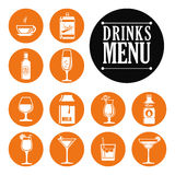 Drinks digital design. Royalty Free Stock Image