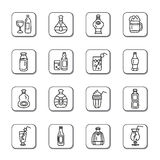 Drinks Doodle Icons Stock Image