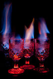 Drinks on Fire Royalty Free Stock Photos