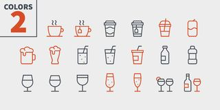 Drinks Food UI Pixel Perfect Well-crafted Vector Thin Line Icons 48x48 Ready for 24x24 Grid for Web Graphics and Apps. With Editable Stroke. Simple Minimal royalty free illustration