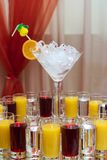 Drinks For A Buffet Stock Photo