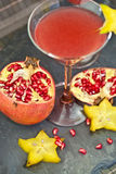 Drinks with Fresh pomegranate Royalty Free Stock Photography