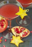 Drinks with Fresh pomegranate Stock Photo