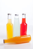 Drinks in glass bottles Stock Photos
