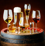 Drinks in glasses royalty free stock photography