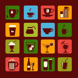 Drinks and glasses - Illustration Stock Photography