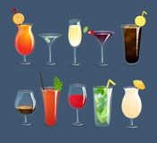 Drinks Glasses Set Stock Photos