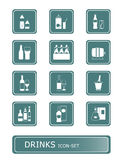 Drinks icon-set Stock Image
