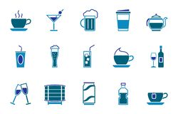 Drinks icon set vector illustration