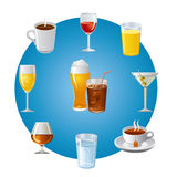 Drinks icon set Royalty Free Stock Image