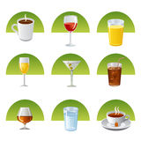 Drinks icon set Stock Image