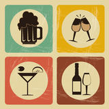 Drinks icons Stock Photo