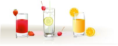 Drinks icons. These pics may be used as icons Stock Image