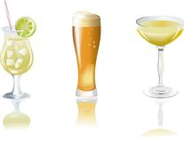 Free Drinks Icons Royalty Free Stock Photos - 4549428