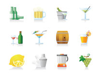 Drinks Icons Stock Photos