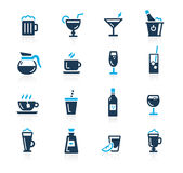 Drinks Icons // Azure Series Stock Photos
