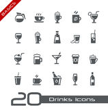 Drinks Icons -- Basics Stock Photos