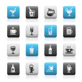 Drinks Icons, Matte Series Stock Image