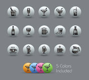 Drinks Icons // Pearly Series Royalty Free Stock Images