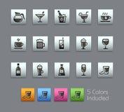 Drinks Icons -- Satinbox Series Stock Image