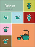 Drinks icons Royalty Free Stock Photography