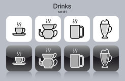 Drinks icons Stock Images