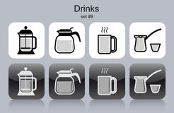 Drinks icons Stock Photography