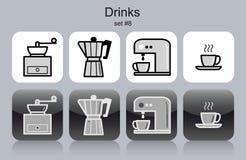 Drinks icons Stock Photos