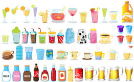 Drinks. Illustration of different kind of drinks stock illustration