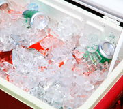 Free Drinks In Ice Chest Royalty Free Stock Photography - 24435617