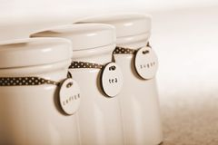 Drinks jars Royalty Free Stock Image