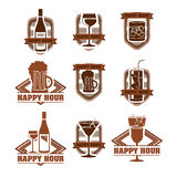 Drinks labels. Over white background vector illustration Stock Image