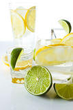 Drinks with lemon and lime Stock Photography