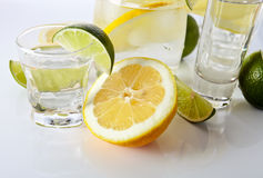 Drinks with lemon and lime Stock Image