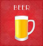 Drinks List Beer with Red Background Royalty Free Stock Photography