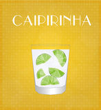 Drinks List Caipirinha with Golden Background Royalty Free Stock Photo