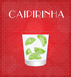 Drinks List Caipirinha with Red Background Stock Photo