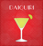 Drinks List Daiquiri with Red Background Stock Image