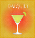 Drinks List Daiquiri with Red Stock Photography