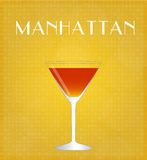 Drinks List Manhattan with Golden Background Stock Image
