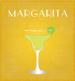 Drinks List Margarita with Golden Background Stock Photography