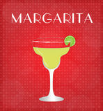 Drinks List Margarita with Red Background Royalty Free Stock Photos