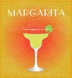 Drinks List Margarita with Red & Golden Background Royalty Free Stock Photos