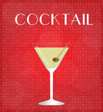 Drinks List Martini with Red Background Royalty Free Stock Images