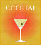 Drinks List Martini with Red & Golden Background Stock Images