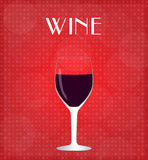 Drinks List Red Wine with Red Background Royalty Free Stock Photo