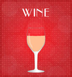 Drinks List Rose Wine with Red Background Royalty Free Stock Image