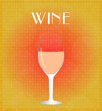 Drinks List Rose Wine with Red & Golden Background EPS10 Stock Image