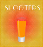 Drinks List Shooters with Red & Golden Background Stock Photo
