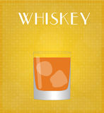 Drinks List Whiskey with Golden Background Stock Photography